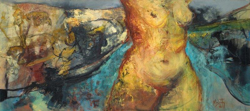 Δημήτρης Μηλιώτης, ''flying'' , oil on canvas